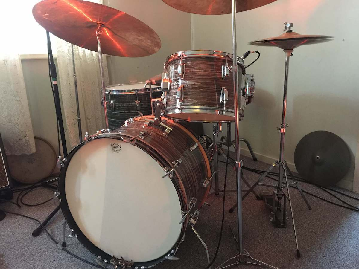 AFTER (1967 LUDWIG SUPER CLASSIC IN BLUE OYSTER PEARL)