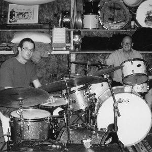 Drummers Jonathan Harding-Clark and Tony Clark